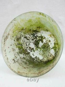 19th century French melon cloche dome blown glass 17
