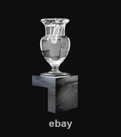 $2880 BACCARAT Harcourt Crystal Wall Unit Marie Louise Fool Vase Mint in Box