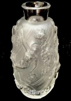 A Lalique Bud Vase With Nude Woman And Flowers