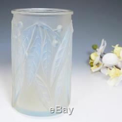 A Rene Lalique Opalescent Laurier Vase Designed 1922