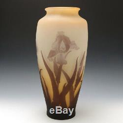 A Very Tall Galle Cameo Glass Vase c1910