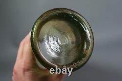 Antique French Legras Enameled Cameo Glass Vase River Scene Art Nouveau c1910