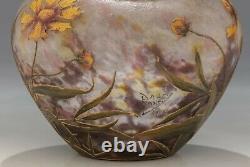 Antique French Seccesion Vase Daum&Nancy Floral decoration