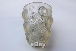 Antique Vintage Authentic 1930's Rene Lalique Spirales Vase Signed On Bottom