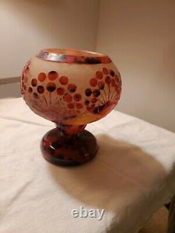 Art Deco Antique Vase, Schneider glass, Le Verre Francais