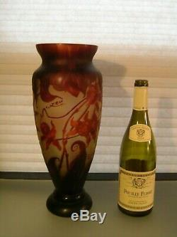 Art Nouveau Cameo Glass Styled after Emile Galle with Signature 14