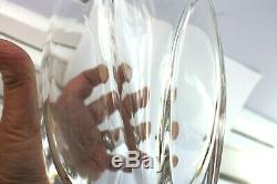 Authentic BACCARAT Crystal Giverny Vase R. Rigot Signature 1992 No Box 10 inches