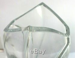 Authentic BACCARAT Crystal Giverny Vase R. Rigot Signature 1992 No Box 9 Inches