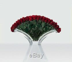 BACCARAT Crystal Ginkgo Grand Flower Vase