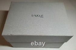 BEAUTIFUL LALIQUE HEAVY CRYSTAL Osumi Florero VASE in Original Box