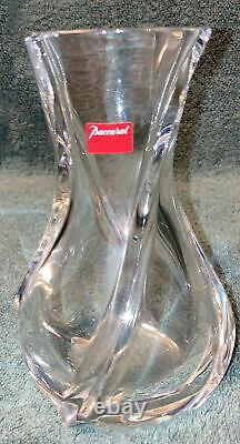 Baccarat Crystal 6.5 Inches, Serpentine Vase