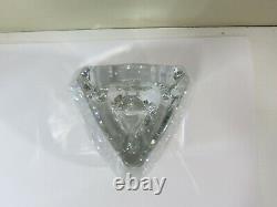 Baccarat Crystal Bouton-d'or 7.75 Triangle Vase, Signed, France