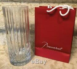 Baccarat Crystal Glass Vase Large Harmonie 12 Tall