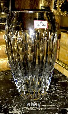 Baccarat Crystal Made In France Clear Vase NIB