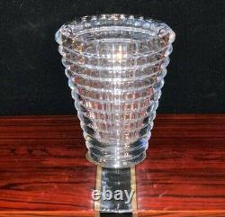 Baccarat Crystal Oval Eye Clear Vase 6 Perfect