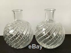 Baccarat Crystal Pair of 5 CYCLADES Vase