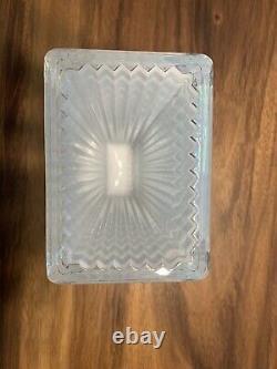 Baccarat Crystal Rectangular Eye Vase White 8 H BRAND NEW Retail $750