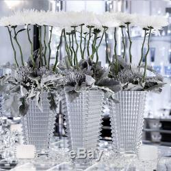 Baccarat Crystal Small Rectangular Eye Vase White 8 H BRAND NEW