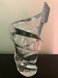 Baccarat Crystal Spirale Vase Brand New in box