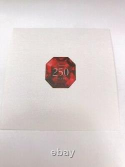 Baccarat Crystal Square Red Vase 250th Anniversary