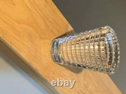 Baccarat Eye Oval Vase in Clear Crystal 6 inch