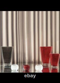 Baccarat Eye Vase in Gray / Grey Crystal Large H 12 New