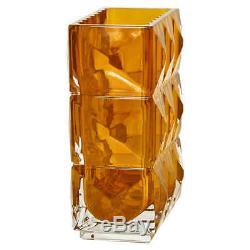 Baccarat Louxor Crystal Vase- Amber