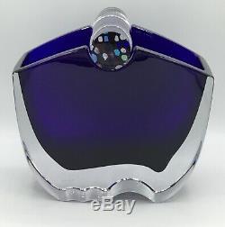 Baccarat Oceanie Vase Cobalt Blue Vase