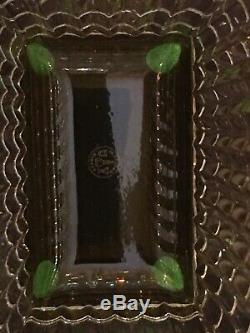 Baccarat Rectangle Eye Crystal Vase Large Yellow 11.75