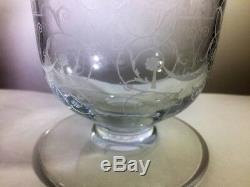 Baccarat Signed Crystal Vase Michelangelo 5 H x 4 Diam