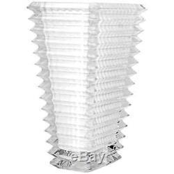Baccarat Small Eye Rectangular Vase- White
