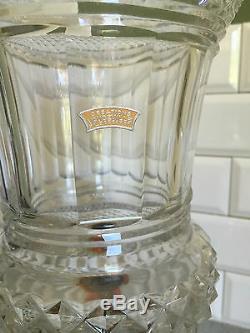 Big Vase Baccarat Crystal Model Medici Perfect Condition