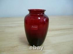 Bud Vase by Baccarat of France Ruby Red Naiades French Crystal Pristine