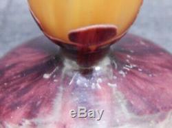 Charles Schnieder Le Verre Francais Art Deco Cameo Art Glass Epinettes Vase