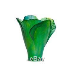 DAUM Green mini-vase Ginkgo 05157/C