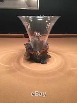 Daum Crystal Papillon Vase