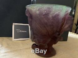 Daum Fig & Lizard Vase