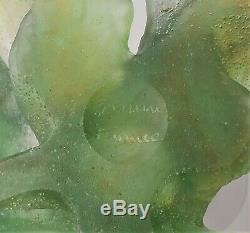 Daum France Soliflor Grenouille Nature Pate de Verre Frog Bud Vase Crystal 01493