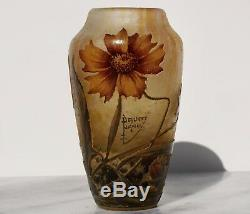Daum Nancy Cameo Enameled Art Nouveau Vase