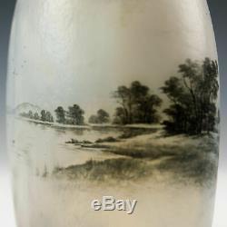 Daum Nancy Dutch Landscape Vase c1900