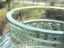 Daum Nancy France Etched Art Deco Vase 11.5