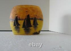 Daum Nancy Sailboat Vase