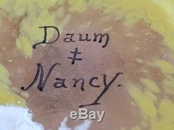 Daum Nancy c 1906 Enamel Winter Scene Paysage D'Hiver Pillow Glass Vase 3 3/4