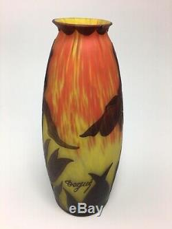 Deque French Cameo Vase Iris With Awesome Colors