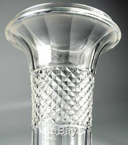 Elegant Antique French Empire Style Baccarat 9 Vase, Gilt Bronze & Cut Crystal