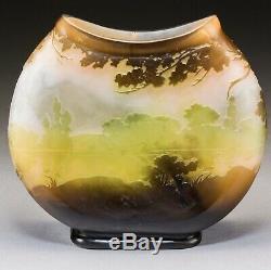 Emile Galle French Art Nouveau Fisherman Cameo Vase