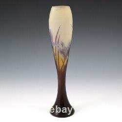 Emile Galle Three Colour Cameo Glass Vase 1900-04
