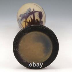 Emile Galle Three Colour Cameo Glass Vase 1900-04