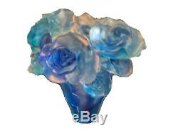 Extraordinary Blue Rose Vase Nancy Daum Style Sz17/16/19 Cm Collector Vase