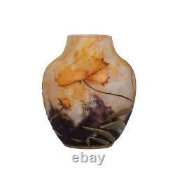 Fine Daum Nancy Cameo and Enamel Glass Vase France, circa 1910